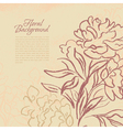 Beautiful peony vintage background vector image