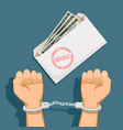 bribery and corruption vector image vector image