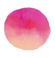 bright light pink watercolor banner blot vector image