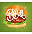Burger BBQ green vector image vector image