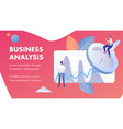 business analysis abstract banner template vector image vector image