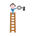businessman character standing on top of wooden vector image