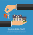 buy or rent real estate vector image vector image