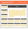 Calendar Template for 2017 Year Business Planner vector image vector image