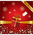 Christmas greetings card vector image vector image