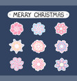 christmas modern set with ilustrations of vector image vector image