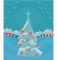 Christmas night and christmas tree in the village vector image vector image