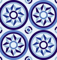Classic style mosaic tile pattern with blue design vector image
