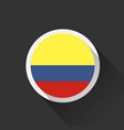 colombia national flag on dark background vector image vector image