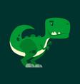 cute green curious dinosaur - a cartoon character vector image vector image