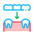 dental prosthesis stomatology sign icon vector image vector image