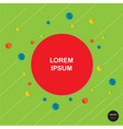 design colorful circles with line elements vector image vector image