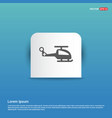 emergency helicopter icon - blue sticker button vector image vector image