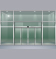 facade with sliding doors vector image vector image