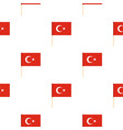 flag of turkey pattern seamless vector image vector image