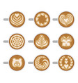 flat set of coffee cups with different vector image