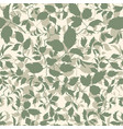 floral seamless pattern branch with leaves vector image vector image