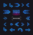 futuristic interface hud design elements set of vector image