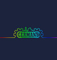 germany word build in gear vector image vector image