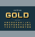 gold font and alphabet golden design typeface vector image vector image