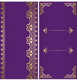 golden and violet cards with arabic ornament vector image