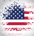 Grunge American flag background vector image vector image