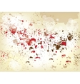 grunge background with splashes vector image
