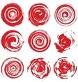 Grunge Red Spiral vector image vector image