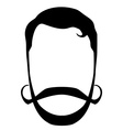 Hipster hair beard mustache vector image vector image