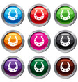 horseshoe set 9 collection vector image vector image