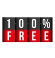 Hundred percent free lettering vector image vector image
