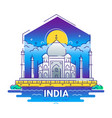 india - modern line travel vector image vector image