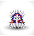 iron throne for computer games design vector image vector image