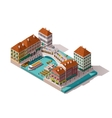 isometric Venice street vector image vector image