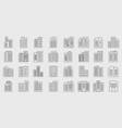 line building icons set company vector image vector image