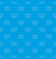 line crown pattern seamless blue vector image vector image