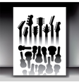 Lots of Guitar Cases vector image vector image