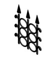 metal fence icon simple black style vector image vector image