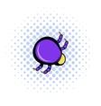 Mite virus icon comics style vector image vector image