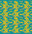 olive branch seamless pattern golden floral vector image vector image