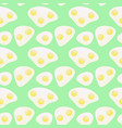 pattern fried eggs vector image