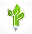 Pencil like tree vector image vector image