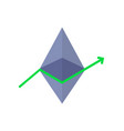 profit surge with ethereum value growth vector image