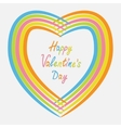 Rainbow abstract heart frame Flat design Happy vector image vector image