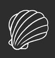 sea shell chalk icon marine mollusk shell vector image vector image