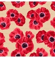 Seamless vintage pattern with poppies flower vector image vector image