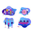 set of business successful vector image