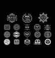 set stylish white logos for handmade vector image vector image