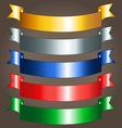 Shiny ribbon banners vector image vector image