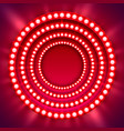 show light circle red background vector image vector image